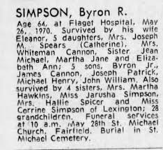 Obituary for Byron R. SIMPSON (Aged 64) - Newspapers.com