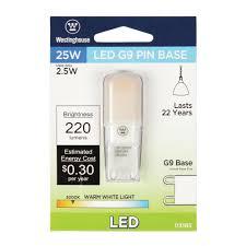 25w Equivalent Bright White G9 Led Light Bulb Westinghouse 25w Equivalent Bright White G9 Led Light Bulb
