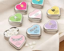 heart shaped boxes mint tins Wedding Favors Mint Tins \