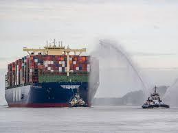 Weitere ideen zu containerschiff, schiff, container. Bye Bye Containerschiff Hmm Algeciras Korea Koloss Verlasst Hamburger Hafen In Richtung Heimat Hamburg