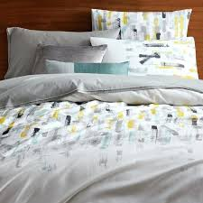 pastel double duvet covers 400 thread count organic sateen brushstroke duvet cover shams west elm pastel