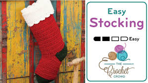 Crochet Stocking Pattern Interesting Quick Crochet Christmas Stocking Tutorial The Crochet Crowd