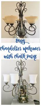diy chandelier makeovers chandelier makeover with chalk paint easy ideas for old brass