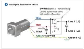 how to connect a reversing switch to a 3 or 4 wire (psc) gearmotor dc reversing switch wiring diagram example 2 connect the double pole, double throw switch