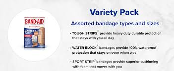 Band Aid Size Chart Band Aid Brand Adhesive Bandage Family Variety Pack Sheer And Clear Bandages Assorted Sizes 280 Ct