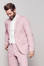 Light Pink Jacket Men Light Blue Slim Fit Nova Fides Signature Linen Suit Jacket