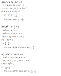 ncert solutions for class 10 maths quadratic equations