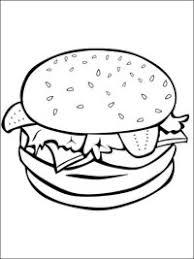 Disegni Da Colorare Hamburger Disegni Da Colorare Panino Hamburger