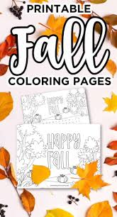 Coloring is essential to the overall. Printable Fall Coloring Pages Happy Fall Coloring Page And Word Search