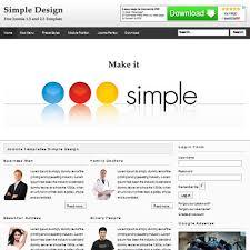Download Free Simple Design Joomla Template