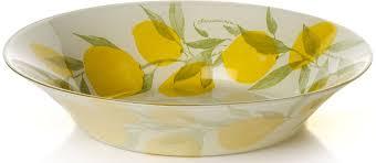 """<b>Тарелка глубокая Pasabahce</b> """"Лимон"""", диаметр 22 см ..."""