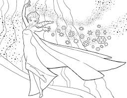 Small Picture Elsa the Snow Queen Showing Her Magic Coloring Page Download
