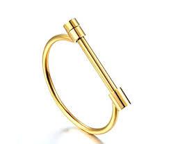 manila link bangle bracelet jewelry box gold plated yellow amazon co uk jewellery
