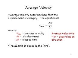6 average velocity
