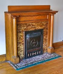 antique american interior residential copper plated stamped steel three flat dawson fireplace mantel designed and fabricated by the dawson brothers