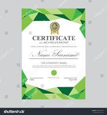 Certificate Of Landscape Design Certificate Template Modern A4 Horizontal Landscape Stock