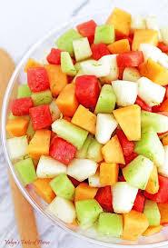 watermelon fruit salad bowl. Modren Watermelon Melon Fruit Salad With Honey Lime And Watermelon Juice Dressing And Bowl