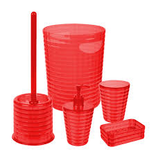 Red Bathroom Accessories Sets Plastic Bathroom Accessories Uk