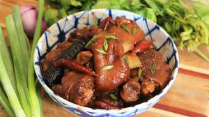 braised pork trotter with chinese bean