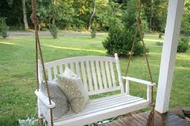 White Porch Swing Rope Hanging Chair Seat Patio. Porch Swing Rope Knot  Hanging Kit Patio. Porch Swing Rope Hardware Bed Or Chain.