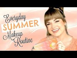 everyday summer makeup routine 2016 glamour grammar ep 1 faces by cait