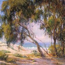 anna althea hills paintings beside the sea laa beach 1921