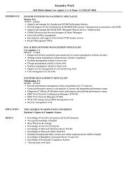 Systems Management Specialist Resume Samples Velvet Jobs
