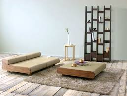 Living Room Bench Seat Furniture Modern Japanese Living Room With Rectangle Brown Wood