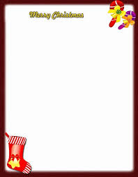Christmas Letterhead Template Merry Christmas Stationery Template