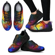 Galaxy Design Shoes Colorful Universe Womens Athletic Sneakers