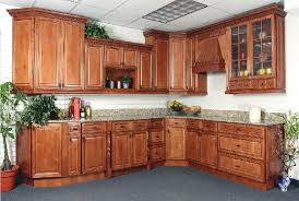 Marvelous Design Of The Wood Kitchen Cabinets With Brown Wooden Materials  Added With Grey Marble As