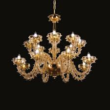 contemporary style led handmade glass chandelier ramonista blown glass chandelier by multiforme