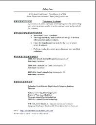 Veterinary Receptionist Resume Best Veterinary Assistant Resume Examples To Vet Tech Image