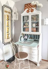 vintage office decorating ideas. Vintage Secretary Desk Makeover By Past, Present, And Patina Office Decorating Ideas E