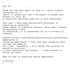 Thank You Letter In Response To Job Rejection Compudocs Us