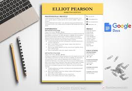 Professional Resume Template Elliot Pearson Bestresumes