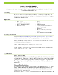 Bottle Service Resume Adorable PrashobhResume4848