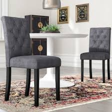 colona upholstered dining chair set of 2