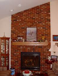 ugly brick fireplace