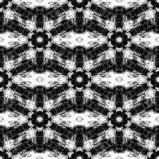 抽象的なシームレス パターン インクで作られたファンタジーモノクロのグランジ テクスチャカバーです