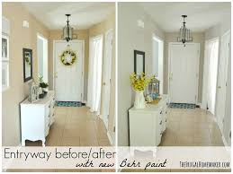 best beige paint colorsEntryway before and after beige to GREIGE with Behr paint
