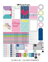 Printable Calendar Sample Custom My Planner Envy Princess Sampler Free Planner Printable