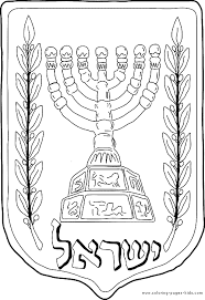 Jewish Candle Color Page Jewish Color Page Coloring Pages For