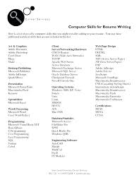 Some Computer Skills Put Resume Example Of To On A List Software