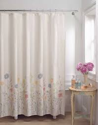 Image of: Outdoor cotton shower curtain flower