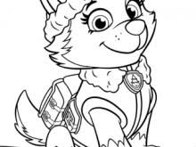 Everest Paw Patrol Coloring Paw Patrol Everest Coloring Page Free