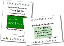 Award Templates Printable Certificates And Award Templates
