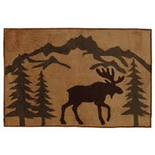 Moose Kitchen Decor Moose Silhouette Kitchen Bath Rug