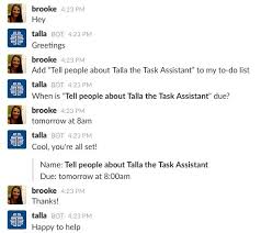 Introducing Talla The Task Assistant A Natural Language To Do List