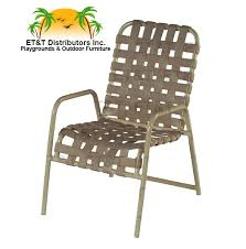 country club crossweave aluminum vinyl strap patio dining chair w arms most popular